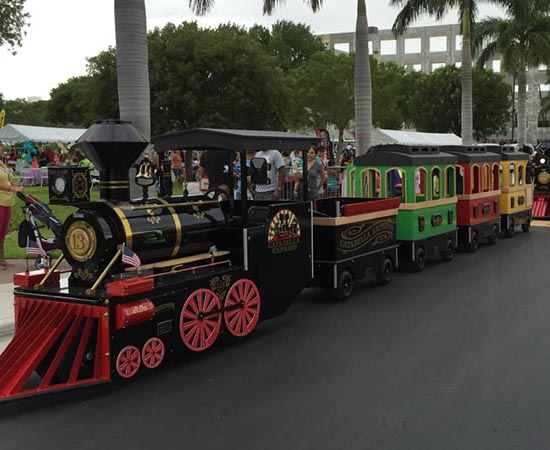 Fiberglass Trackless Train Rides Cheap