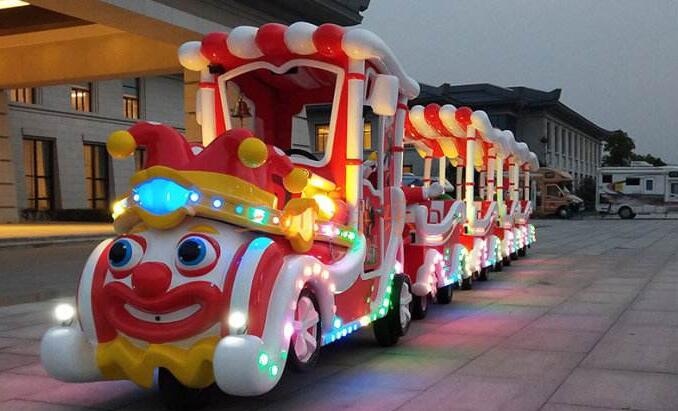 Kiddle electric trackless trains rides for shopping malls